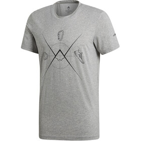 adidas TERREX Ascend - Camiseta manga corta Hombre - gris